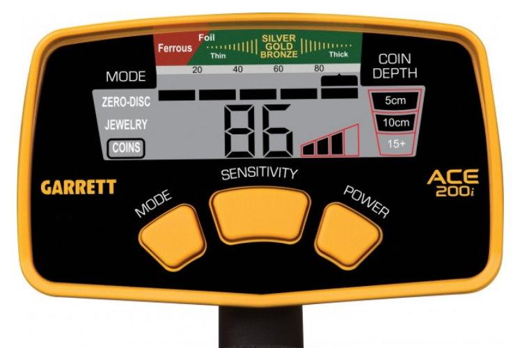 Metalldetektor Garrett ACE 200i+  mit Gratiszugabe Kopfhörer
